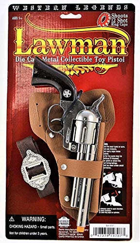 Big Game Toys~Prop Sheriff Toy Cap Gun-Lawman-die-cast-Pistol-Cowboy-Western ()