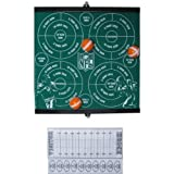 "6-pack Football Party Favors (13""x13"") - Official NFL Velcro Football Games with 3 Velcro Balls and Scoring Sheet By Hallmark - Monday Night Football Party Favors and Superbowl Party Favors"