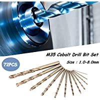 Broca helicoidal de cobalto M35 de 74 piezas