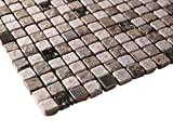 Natural Luxury Square Pebble Stone with Stainless Steel Mosaic Tiles for Bathroom and Kitchen Walls Kitchen Backsplashes