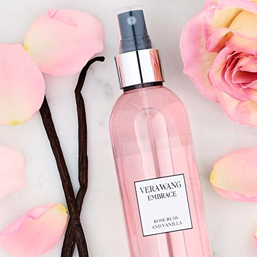 Vera Wang Embrace Body Mist for Women Rose Buds and Vanilla Scent 8 Fluid Oz Body Mist Spray Romantic Floral and Warm Fragrance