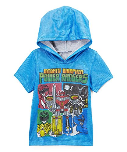 Power Rangers Toddler Boys' Short Sleeve Hooded T-Shirt, Blue, 3T (Power Rangers Short)
