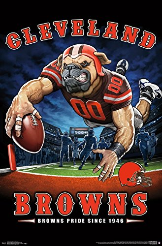 Trends International Wall Poster Cleveland Browns End Zone, 22.375