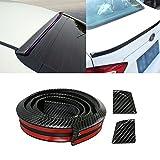GOGOLO Universal Trunk Car Rear Roof Lip Spoiler Strip, 4.9ft/150CM Glossy JDM EPDM Rubber Sticker, Rear Guard Bumper Protector Trim Cover Anti-scratch,100% Waterproof Protection, Black (150cm*3.5cm)