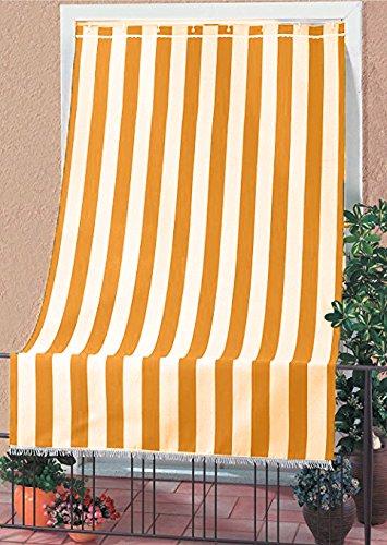 Tessuti Tende Da Sole Per Esterni.Tenda Da Sole Tessuto Resistente Per Esterno Con Anelli Lavabile Frange Pizzo Giallo 280x295 Cm