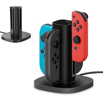 TealTech Joy-con - Base de Carga para Nintendo Switch, 4 en ...
