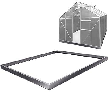 Deuba Greenhouse Foundation Base Galvanized Metal Steel Frame for ...