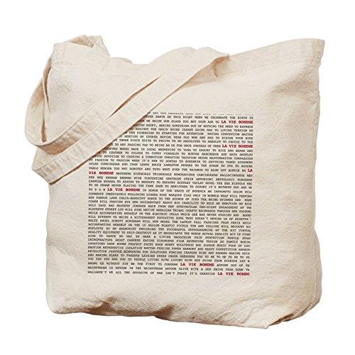 Cafepress–la vie Boheme–Borsa di tela naturale, tessuto in iuta