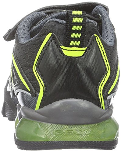 Geox J Light Eclipse 2 Boy a, Zapatillas para Niños Schwarz (BLACK/LIMEC0802)