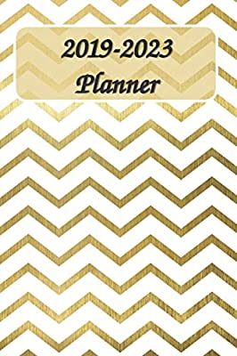 Amazon.com: 2019-2023 Planner 6x9: Gold 5 Year Planner with ...