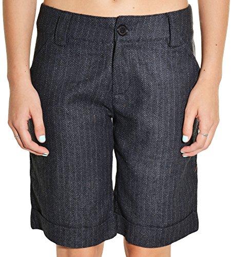 Herringbone Cuffed Short (Grifflin Paris Pinstriped Dress Shorts (Charcoal, Large))