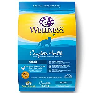Wellness Complete Health Natural Dry Cat Food, Deboned Chicken, Chicken Meal & Rice Recipe, 12-Pound Bag