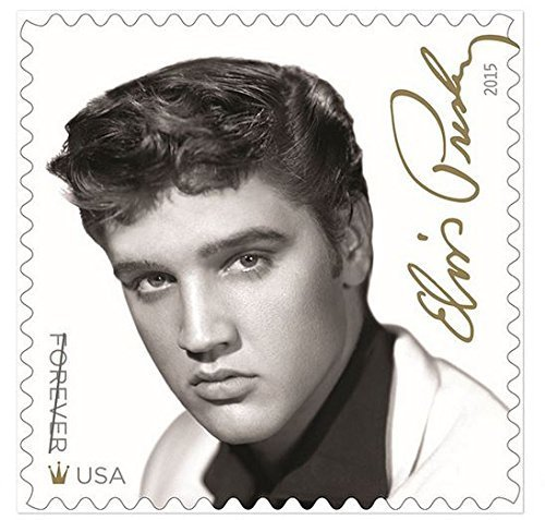 Sheet of 16 Elvis Presley Forever Stamps from the U.S. Postal Service (2015 New Release)