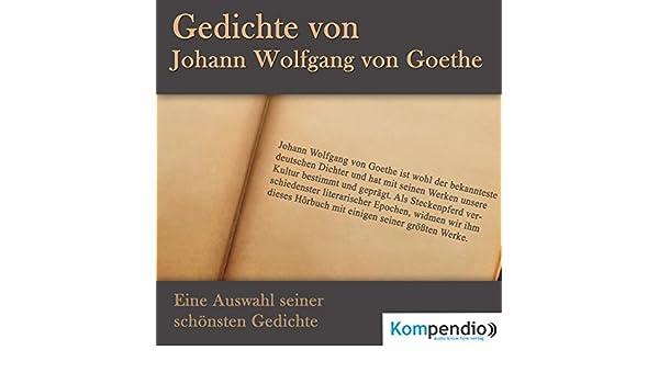Amazoncom Gedichte Von Johann Wolfgang Von Goethe Eine