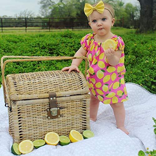 lemon peasant dress, Newborn to girls size 11/12]()
