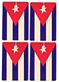 Set of Four Cuban Flag Air Fresheners, Cedarwood Essential Oil
