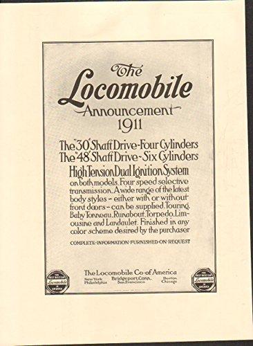 1911 Locomobile Model 48 Bridgeport CT Auto Ad Pall Mall - Ct Mall