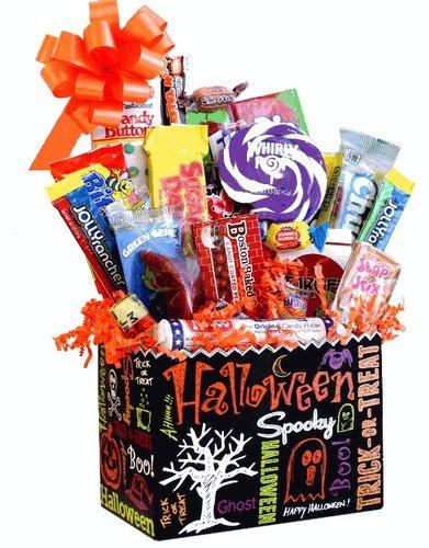 Halloween Chalkboard Retro Candy Gift Basket