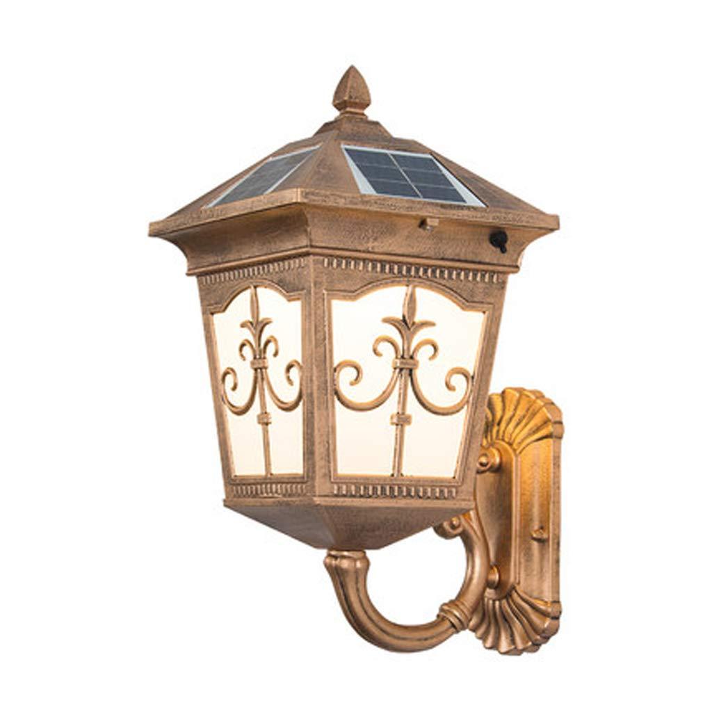 ソーラーランタン、屋外防水防錆壁ランプソーラー屋外LEDヨーロッパ屋外ガーデンバルコニーウォールランプ B07SQXSGJQ