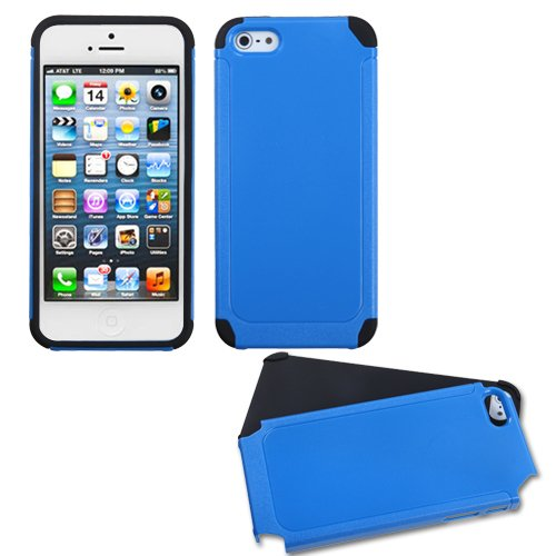 - MYBAT Dark Blue/Black Frosted Fusion Protector Cover for APPLE iPhone 5