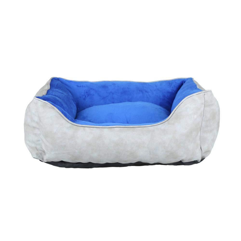 635 Cama para Perros Fácil de Limpiar Cuero Felpa Doble Uso rasguñar-Resistente para Mascotas Perro Gato Cama (Gris 59 * 50 * 20 cm): Amazon.es: Hogar