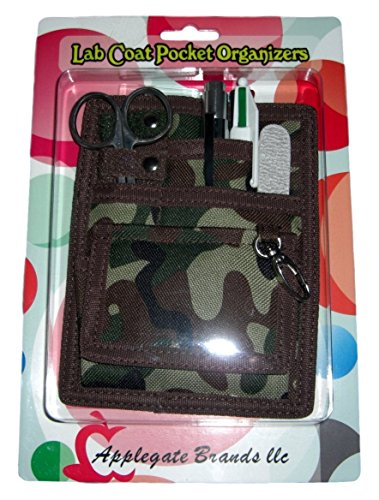 Lab Coats Protective (6 Piece Protective Lab Coat Pocket Organizer Kit Sports An Attractive Camo Pattern! Made Of Durable 600d Denier. Perfect Accessory Or Gift For Nurses And Students!)
