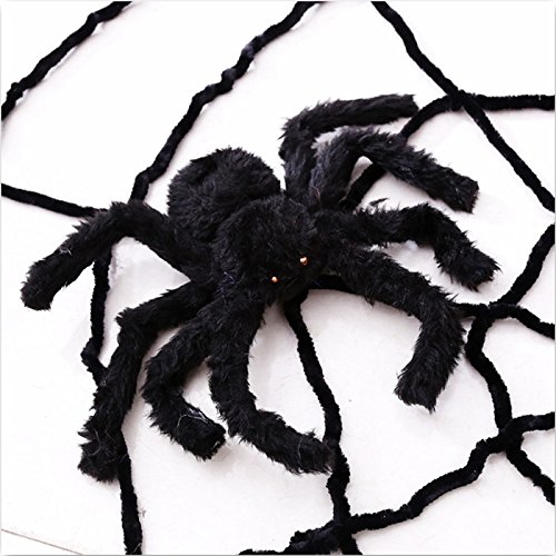 Decoration - Large Spider Decorations Prop Hairy Giant Inflatable Huge Halloween Outdoor - Spider Halloween Prop Spider Indoor Outdoor Parties Bar Diy Decorations 30cm - Halloween Giant Spider - (The Greatest Bar Halloween)