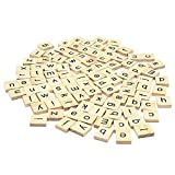 Set Of 1000 Wooden Scrabble Tiles Letters For Board Games, Wall Decor & Arts And Crafts