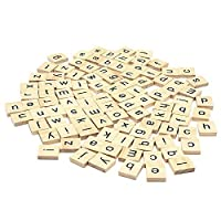 200のセット木製Scrabbleタイル文字forボードゲーム、壁装飾& Arts and Craftsの商品画像