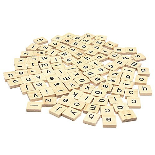 Set Of 1000 Wooden Scrabble Tiles Letters For Board Games, Wall Decor & Arts And Crafts by Trimming Shop