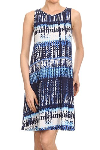 ReneeC Womens Vivid Print Sleeveless