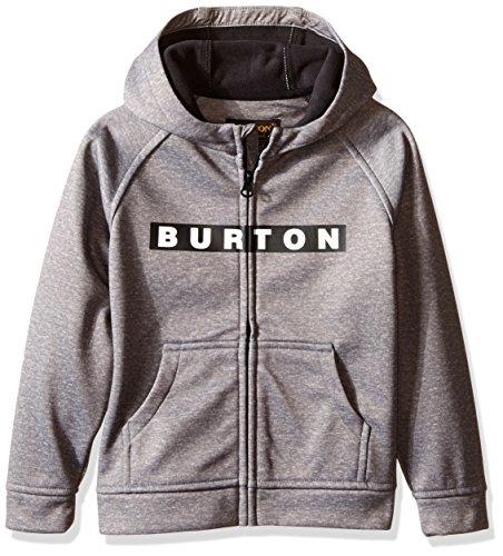 Burton Boys Mini Bonded Full-Zip Hoodie, Monument Heather, 4T