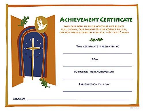 Download Achievement Certificate Grades 6-12 [PKG 12]: Recommended for Grades 6-12 PDF