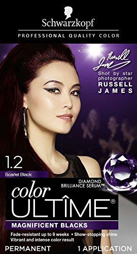 Schwarzkopf Color Ultime Permanent Hair Color Cream, 1.2 Scarlet Black (Packaging May Vary) by Schwarzkopf