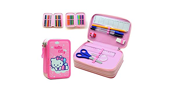 Hello Kitty PLUMIER Triple: Amazon.es: Juguetes y juegos
