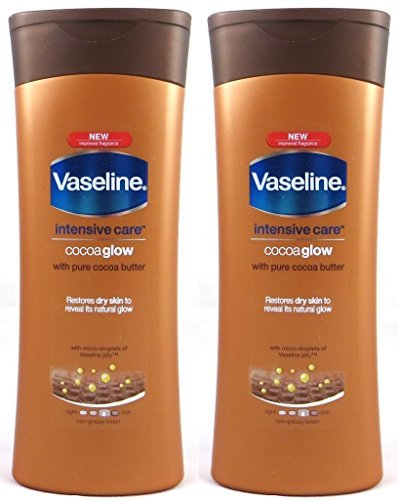 Vaseline Intensive Care Cocoa Glow Body Lotion With Pure Cocoa Butter, 13.5 Oz / 400 Ml (Pack of 2) by Vaseline