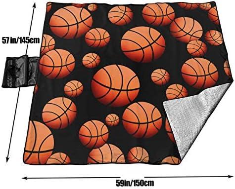 GuyIvan Modello da Basket Coperta da Picnic Tappetino da Picnic Coperta da Picnic Tote Handy Camping Beach Escursionismo Mat 145X150cm
