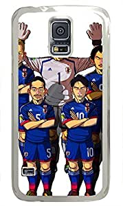 galaxy s5 case,custom samsung galaxy s5 case,TPU Material,Drop Protection,Shock Absorbent,Transparent case,cute cartoon patternCartoon Japanese Football team