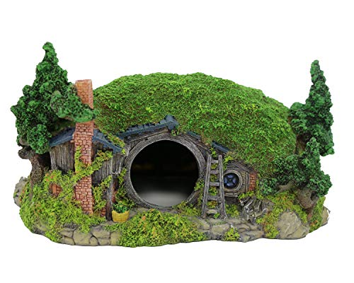 BobbyPet Aquarium Decoration Hobbit House Fish Tank Ornament Rockery Landscaping 11