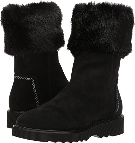 Aquatalia Women's Kelly Suede/Faux Fur, Black, 6 M M US