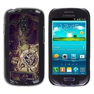 Caucho caso de Shell duro de la cubierta de accesorios de protección BY RAYDREAMMM - Samsung Galaxy S3 MINI 8190 - Ilustración Steampunk
