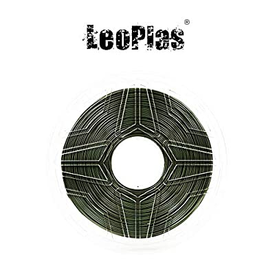 LeoPlas New Store USA Warehouse 1.75mm Soft Flexible Army Military Green TPU Filament 16 Colors 1Kg 2.2 Pounds FDM 3D Printer Pen Supplies Printing Material Thermoplastic Polyurethanes