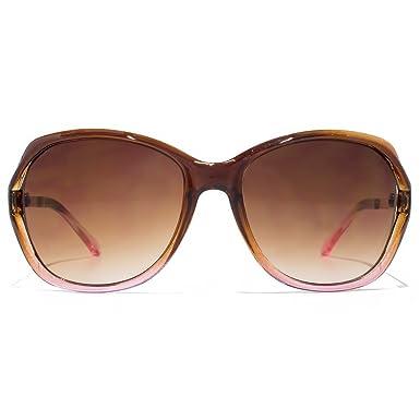 Glare Eyewear Chloe découper les lunettes de soleil en brun dégradé rose RHS86 One Size Brown Gradient cbjy7Sao