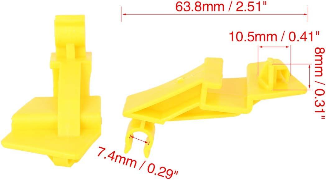X AUTOHAUX 20pcs 63.8mm Plastic Car Hood Prop Rod Clip Retainer for 2009-2014 Ford Fiesta