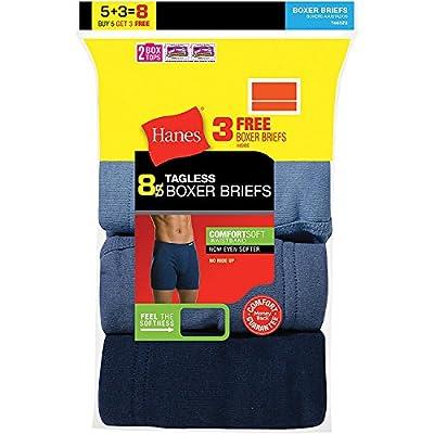 8 Pack Hanes ComfortSoft Waistband Men's Boxer Briefs supplier