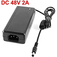 DiySecurityCameraWorld -48V 2A Power Supply for (DSC-IPVE901) and PoE Switch or PoE injector