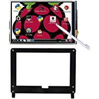 Haiworld 5 inch 800x480 Pixels HDMI TFT LCD Display Module, Resistive Touch Screen + Touch Pen + black Case stand for Raspberry Pi and more