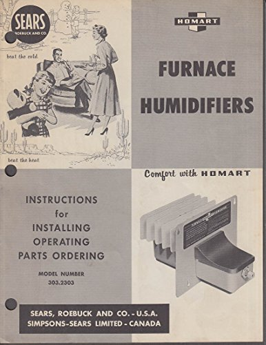 Sears Roebuck Homart Furnace Humidifiers Installation Instructions ca 1960