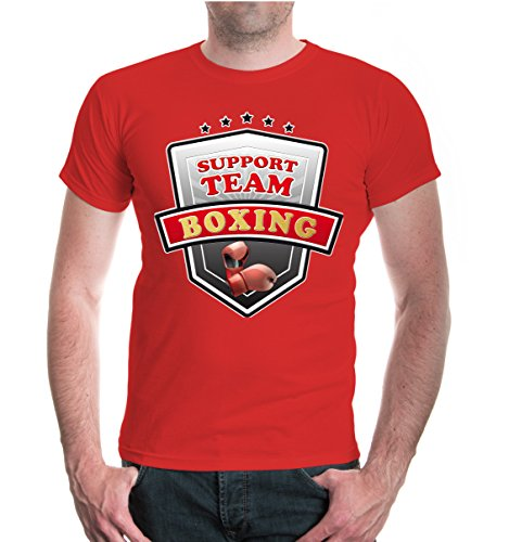 buXsbaum® T-Shirt Boxing-Support Team Red