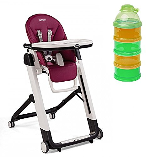 Peg Perego Siesta Highchair Berry & Formula Dispenser